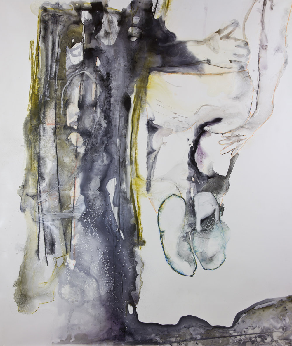 Shona Thought My Abyss Was A Radiator, 2013, watercolor and acrylic on polypropylene, 60x60 inches
