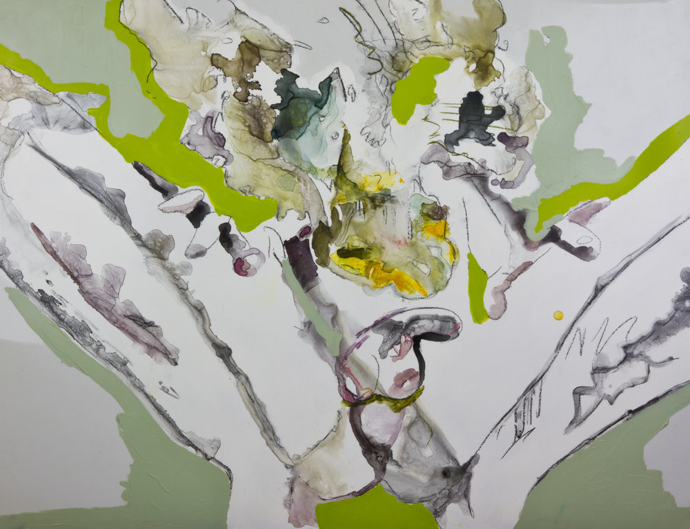 Butt Salad, 2012, watercolor and acrylic on mylar, 30x40 inches