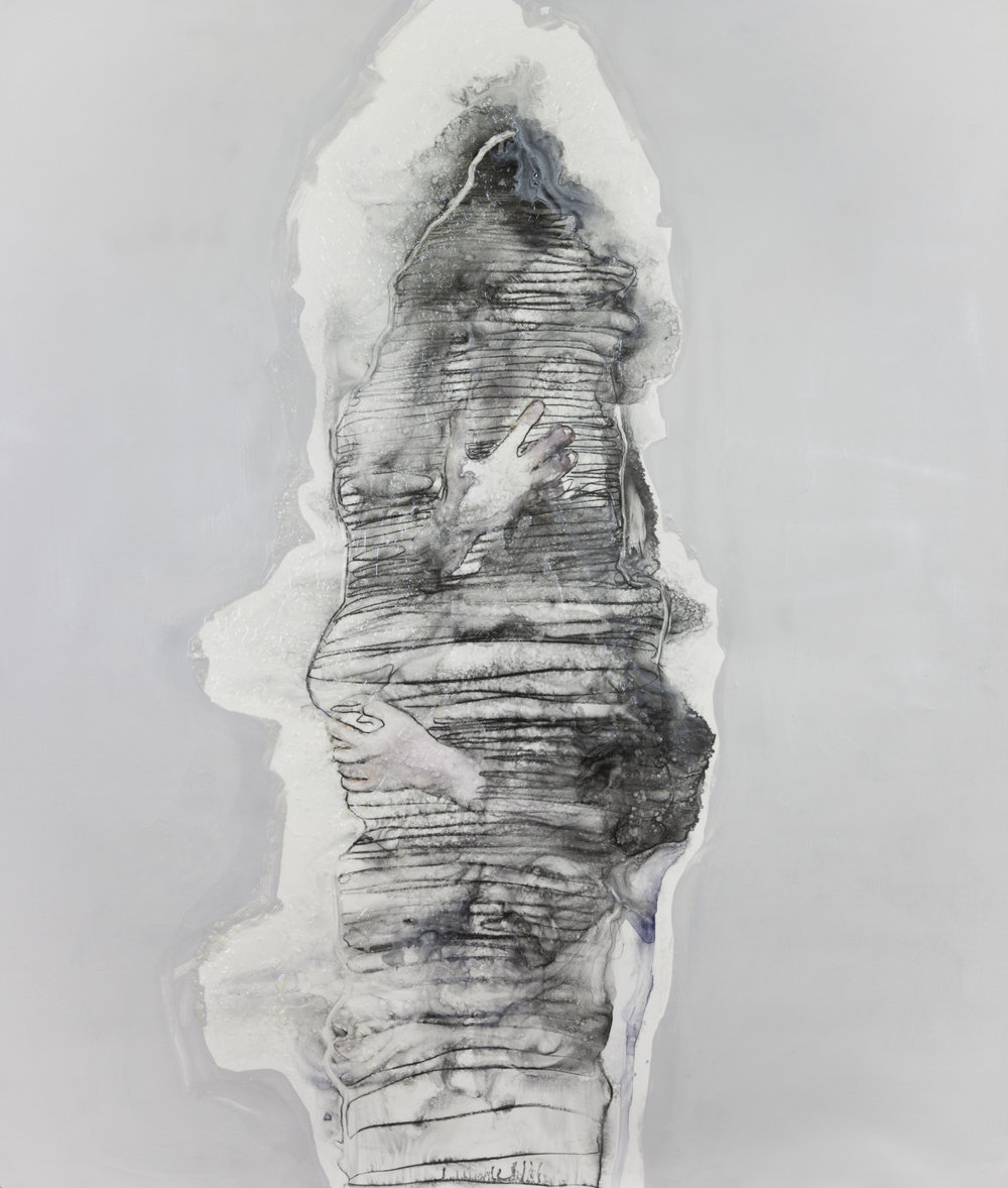 Grey Matter, 2012, watercolor and acrylic on polypropylene, 60x69 inches