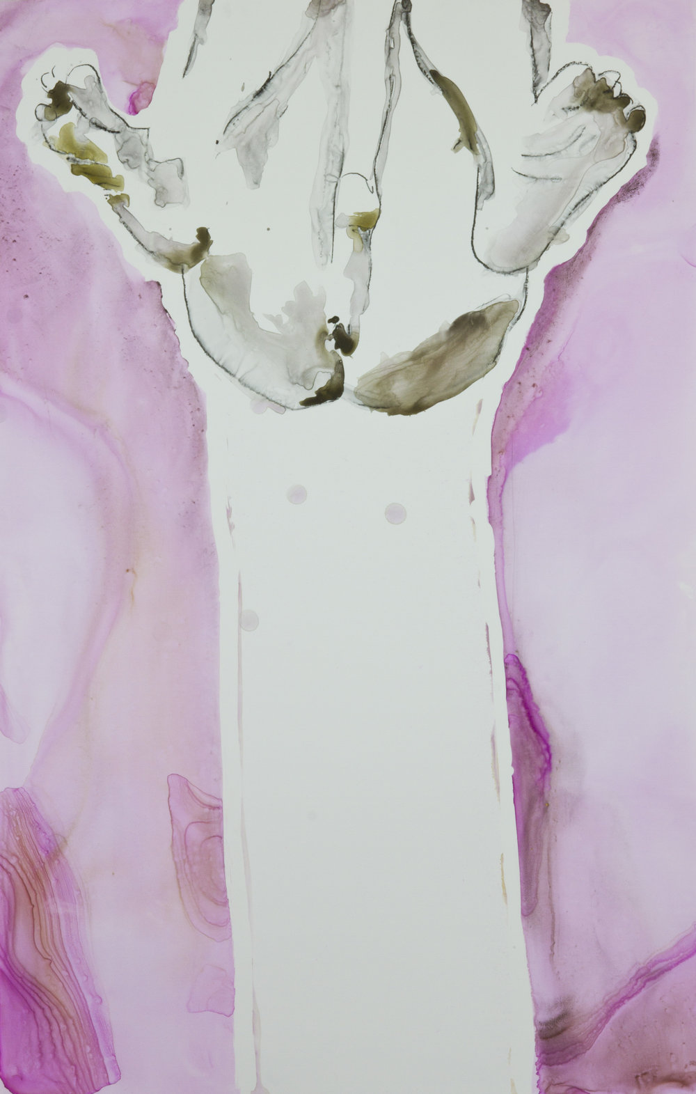 Pink Passage, 2012, watercolor and acrylic on polypropylene, 26x40 inches