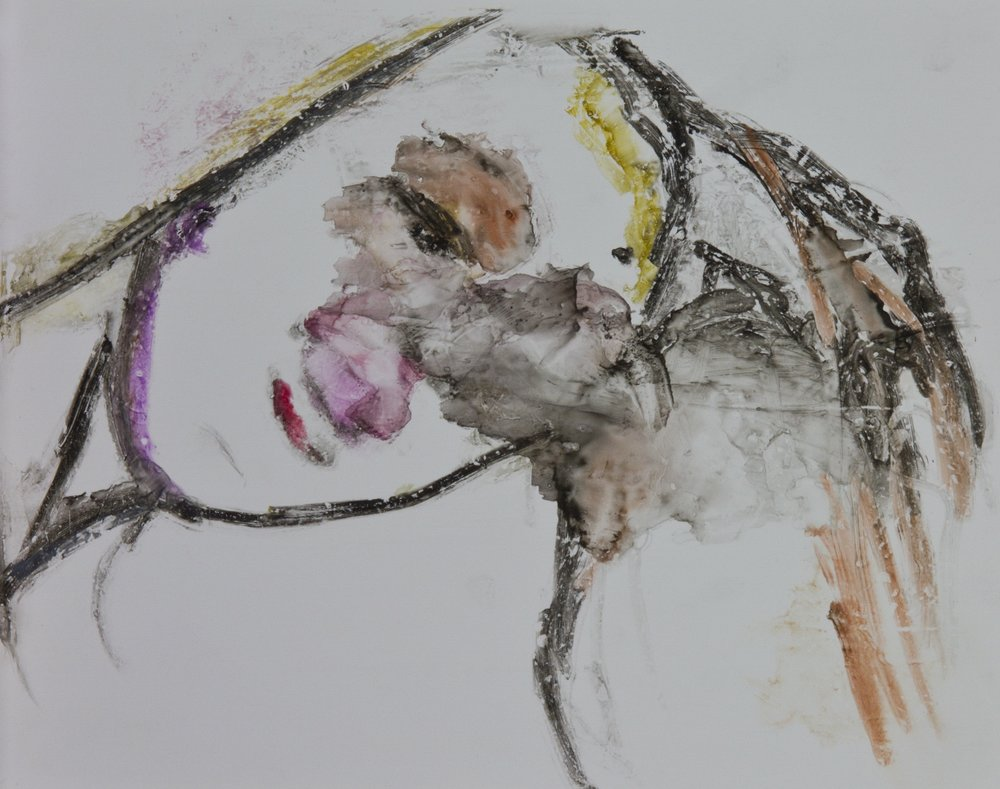 Acts 7, 2010, watercolor monotype on polypropylene, 11x14 inches