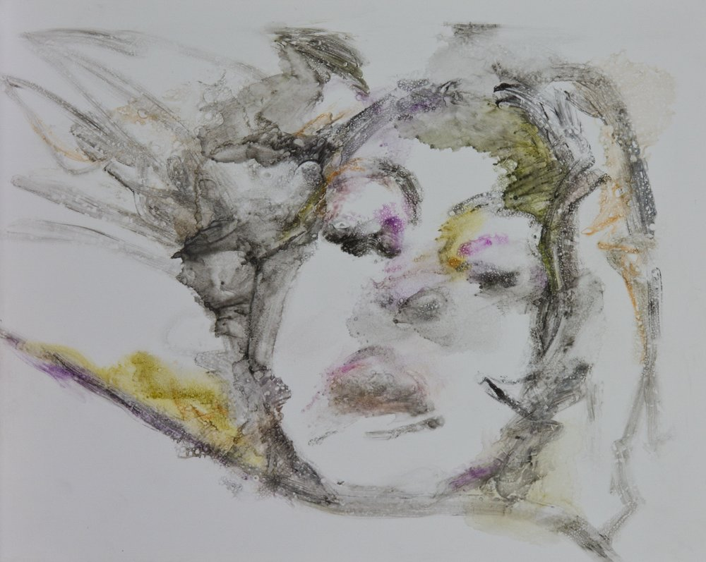Acts 32, 2010, watercolor monotype on polypropylene, 11x14 inches