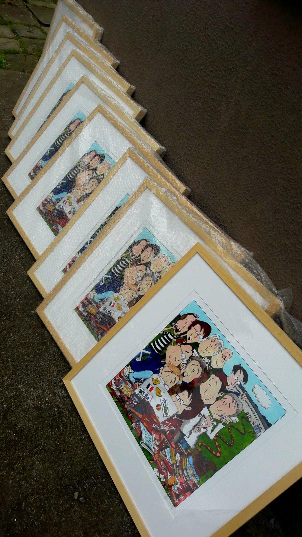 Framed Sligo IT prints ready for presenting