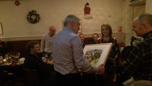 A Leaving present for Tim Collins from Ocean FM Friends and colleagues