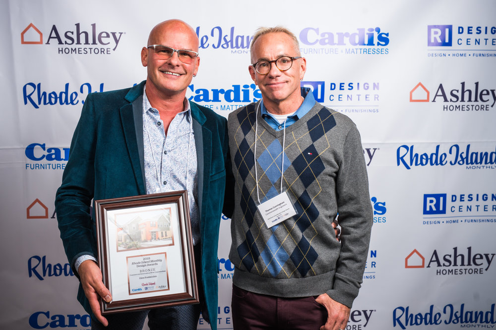 Mr. Fontecchio and his husband, Thom, accepting the design award for the new City Kitty