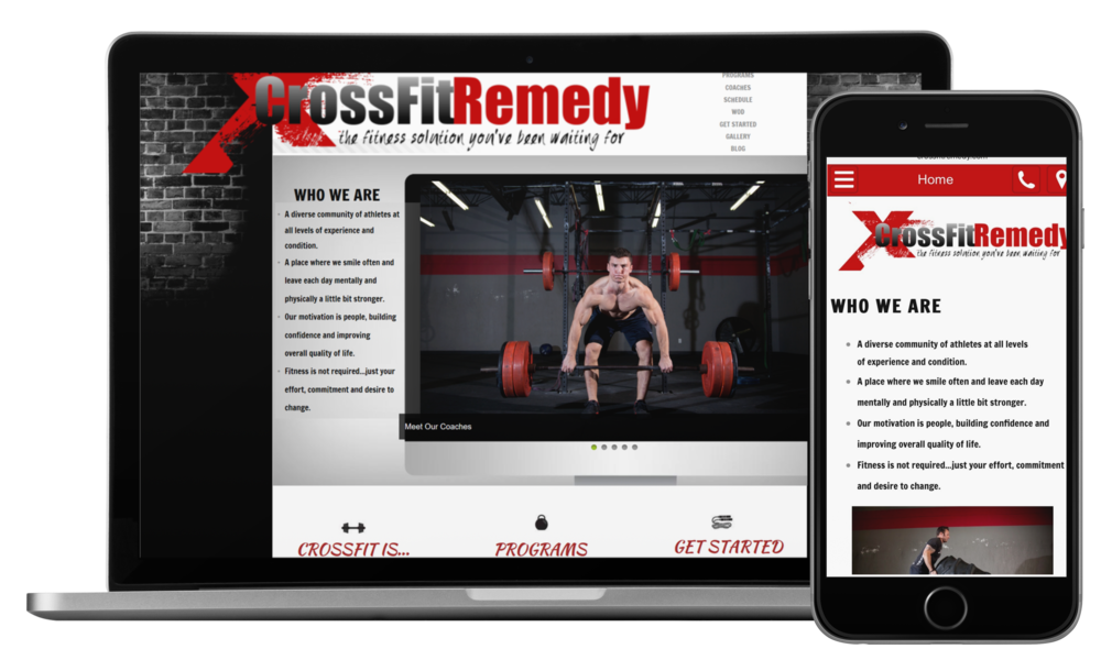"""Website Design + Marketing  - Crossfit Remedy   """"Our website needed a facelift and we had no clear direction of what we wanted. After an initial consultation Kim painted a clear picture of how our site should look. The end result was better than I could have imagined. Thank you...thank you."""" -    nathan konvicka"""