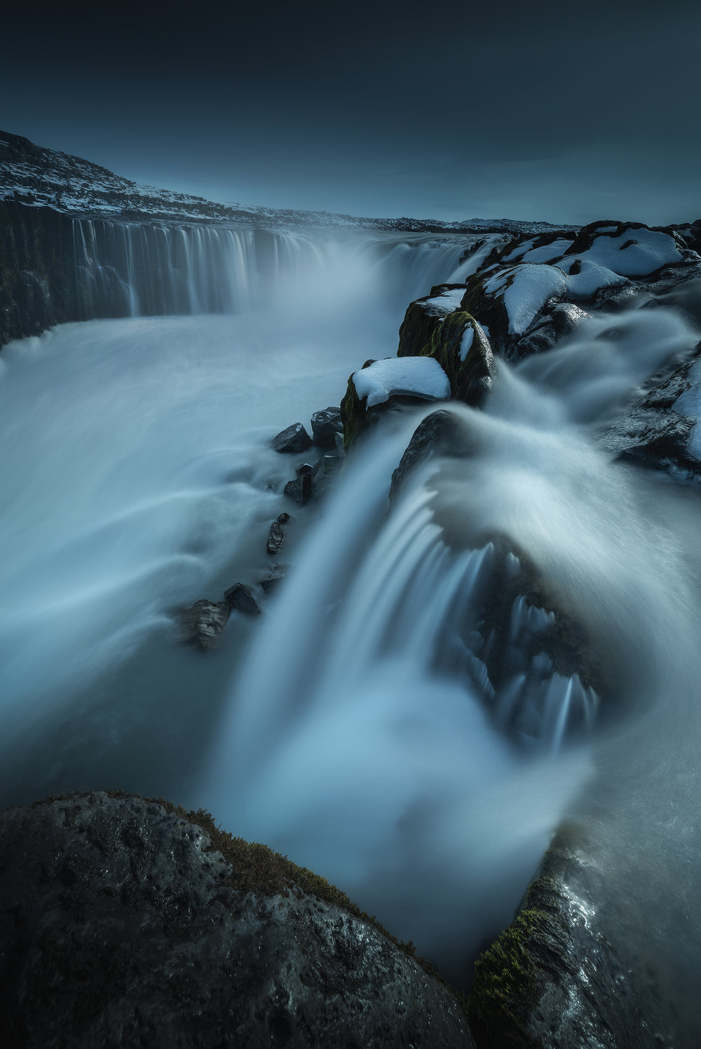Selfoss Waterfall Long Exposure