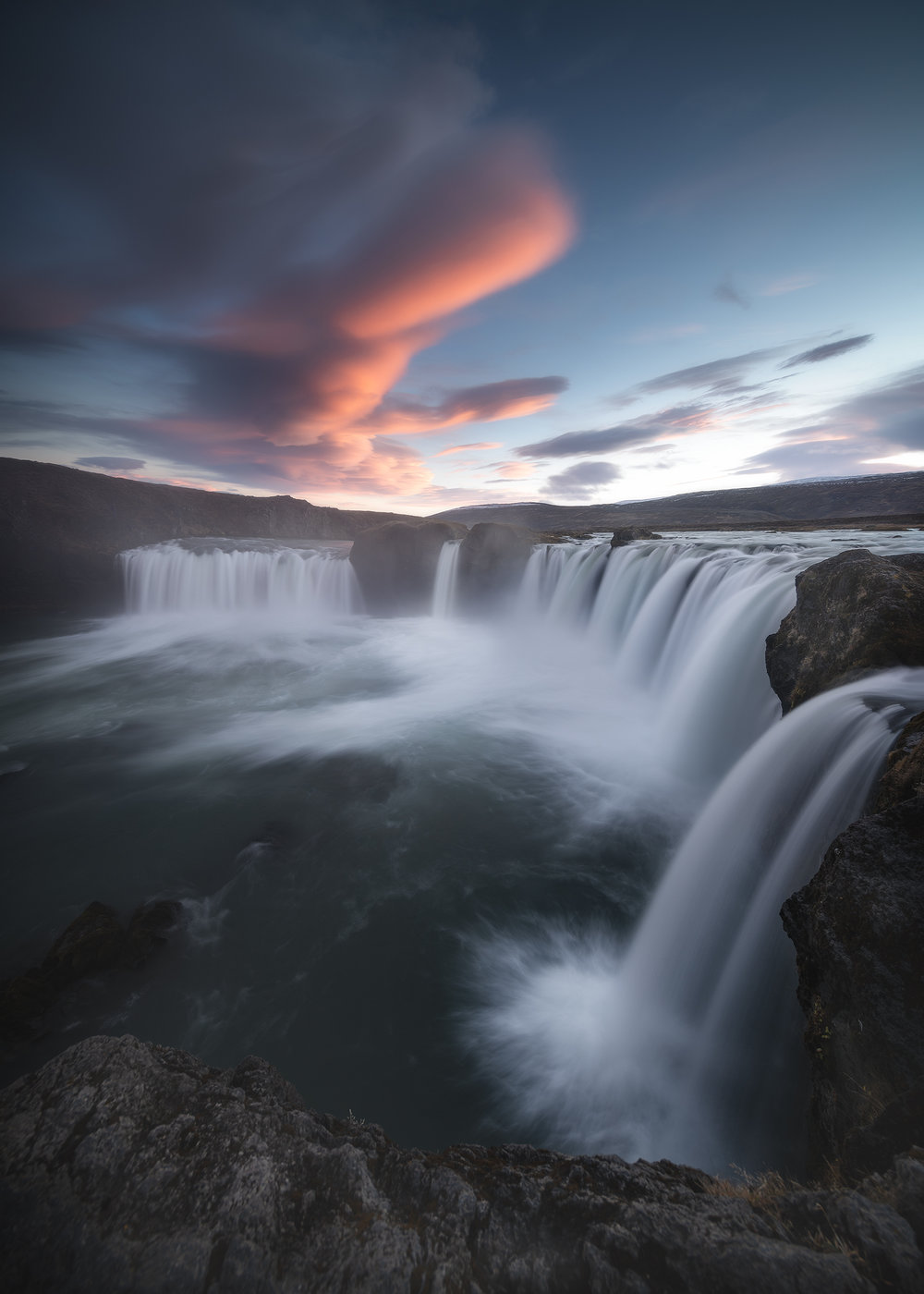 Lenticular Clouds over Goðafoss