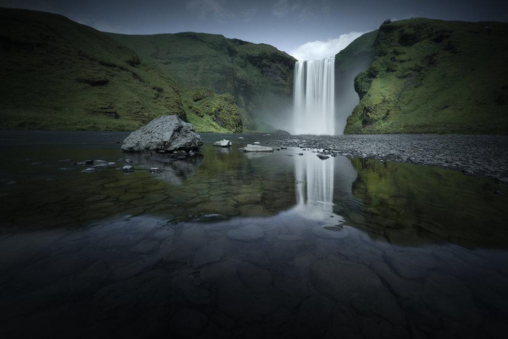 South Coast Iceland - Skógafoss Reflection