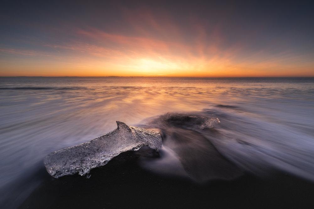 South Coast Iceland - Ice Beach - Diamond Ice Beach