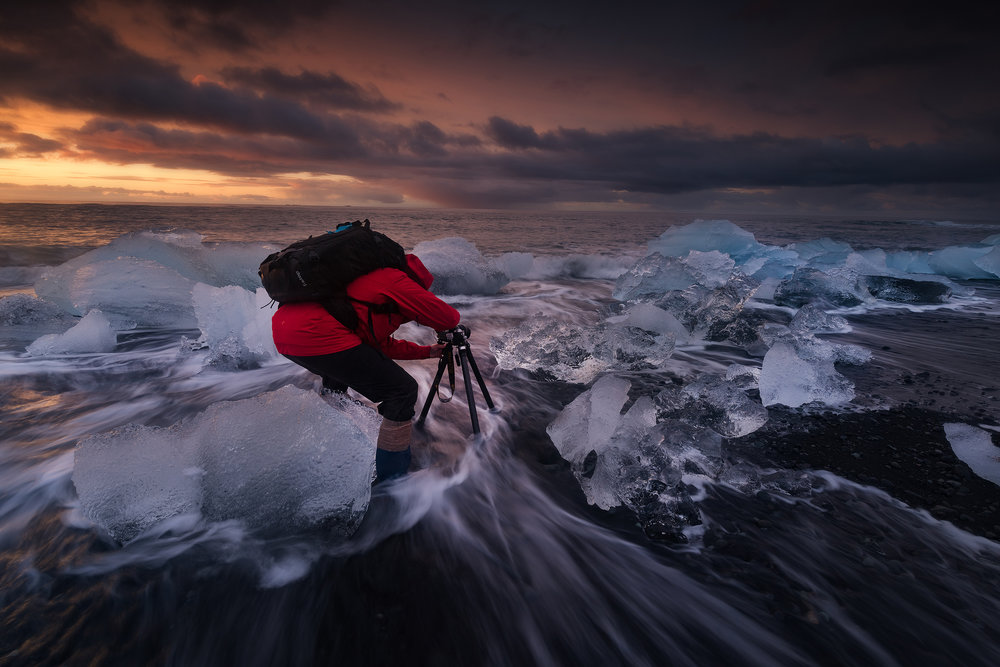 South Coast Iceland - Photography at the Ice Beach