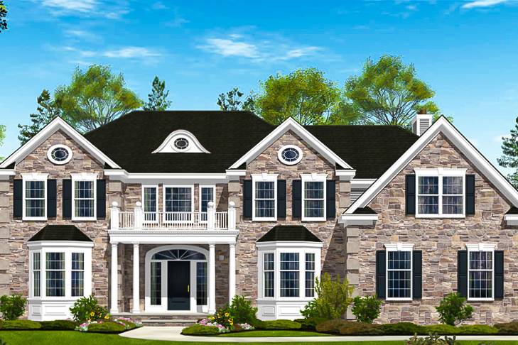 ESTATES AT MONGOMERY - LOCATION: MONTGOMERY TOWNSHIP, NJNew luxury estate homes featuring colonial 92 single-family homes.