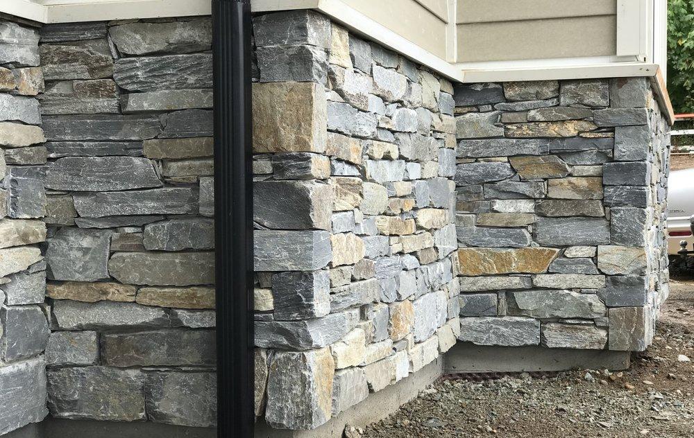 k2 facing, stone facing, victoria, cadboro bay, aryze, black pearl, masonry, stonemasonry, k2 stone, natural