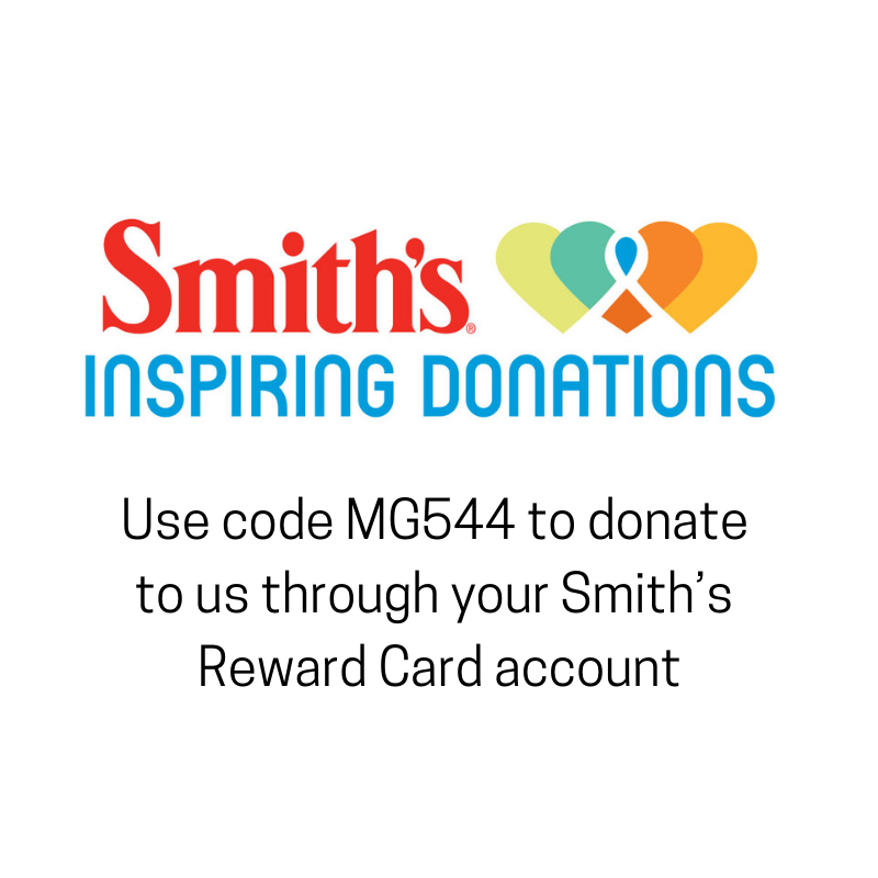 Shop with your Smith's Rewards Card to donate to us. Use code MGH544 to register NMRCRC as your charity. -