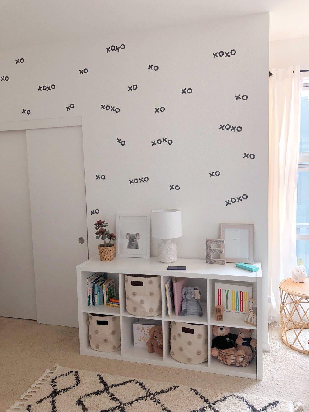 Grey and White Girl's Nursery Design