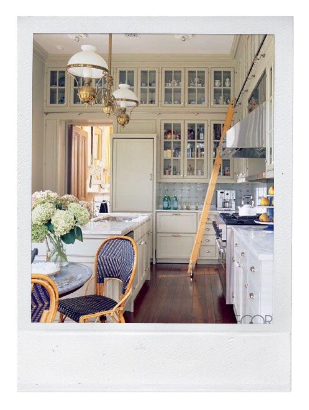 bistro chairs in kitchen