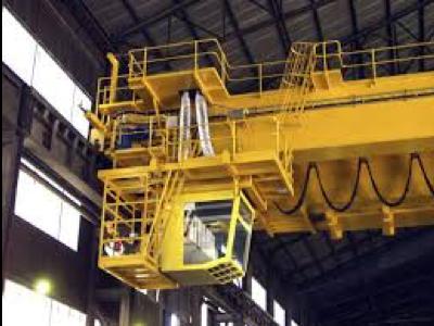 Cab operated bridge crane