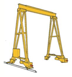 Double leg, Gantry Crane