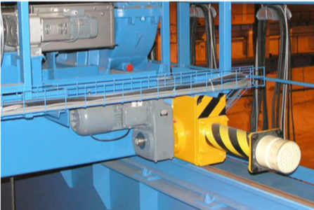 Crane bumpers with extensions.