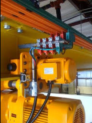 Bridge girder electrical bar and collectors