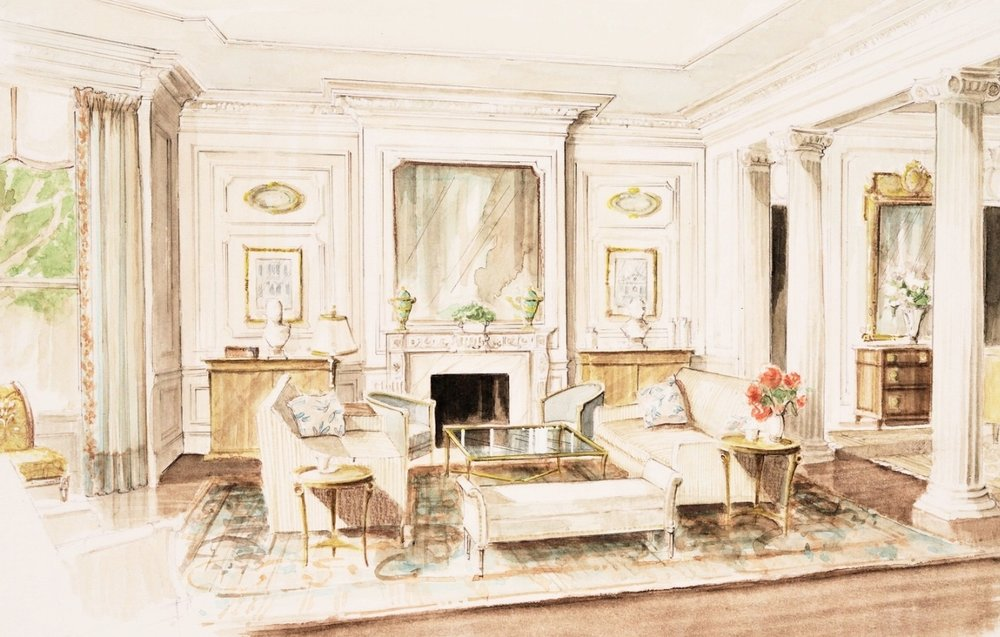 Interior Watercolor Renderings