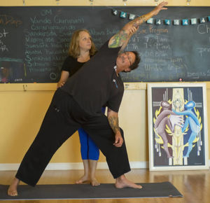 Vietnam veteran John Reib practices Mindful Yoga Therapy