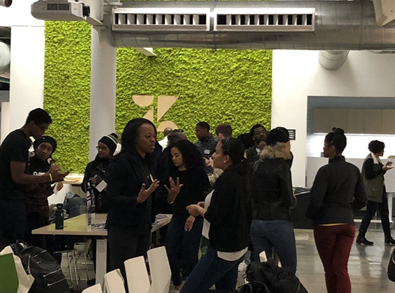 NETWORKING AND CONNECTING - Black professionals across sectors to promote the exchange of business opportunities and to provide a space to strategize about how to elevate the Black community as a whole.