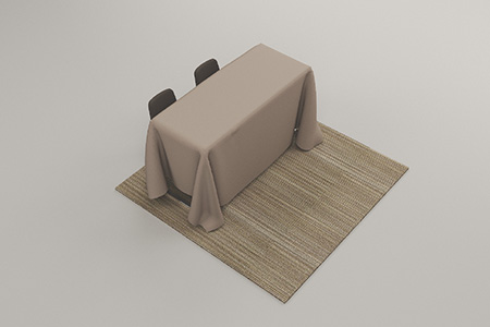 STANDARD - • 6' DRAPED BANQUET TABLE• STANDARD • 2 HOTEL CHAIRSIncluded in career fair price