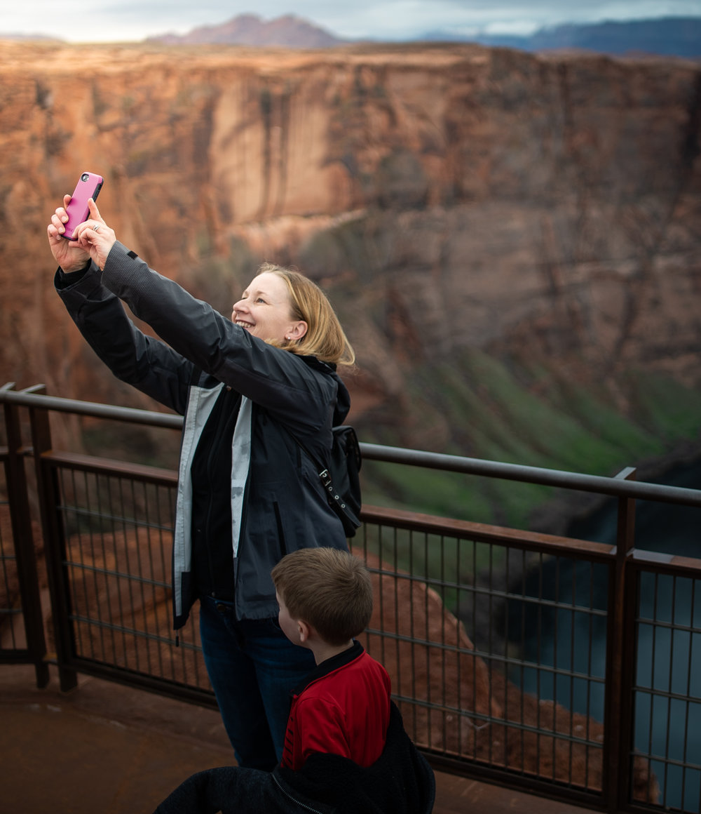I absolutely love this image. This woman looks so happy, I can imagine she's sending this selfie to a loved one. It reminds me of Darian's bucket list, this woman seems like she has waited years to see the Bend. This photo is a great reflection of how much joy our park systems ensue.