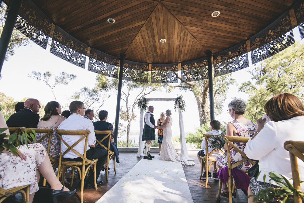 Kings Park Marlee Pavillion Wedding Ceremony