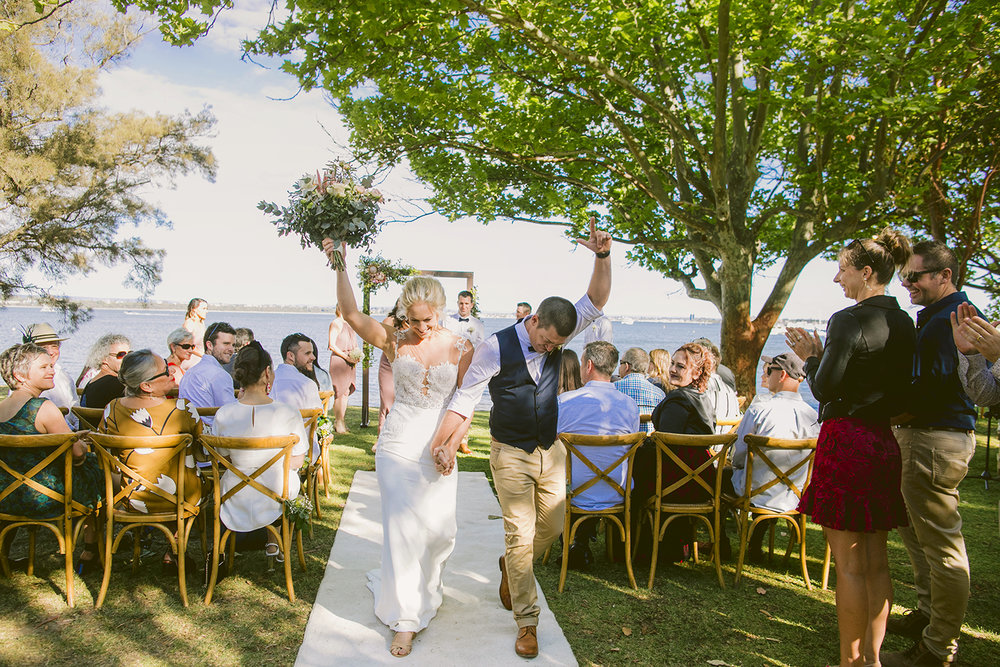 Matild Bay Wedding Ceremony