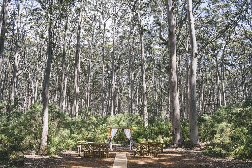 Margaret River Wedding Ceremony Pop Up Wedding