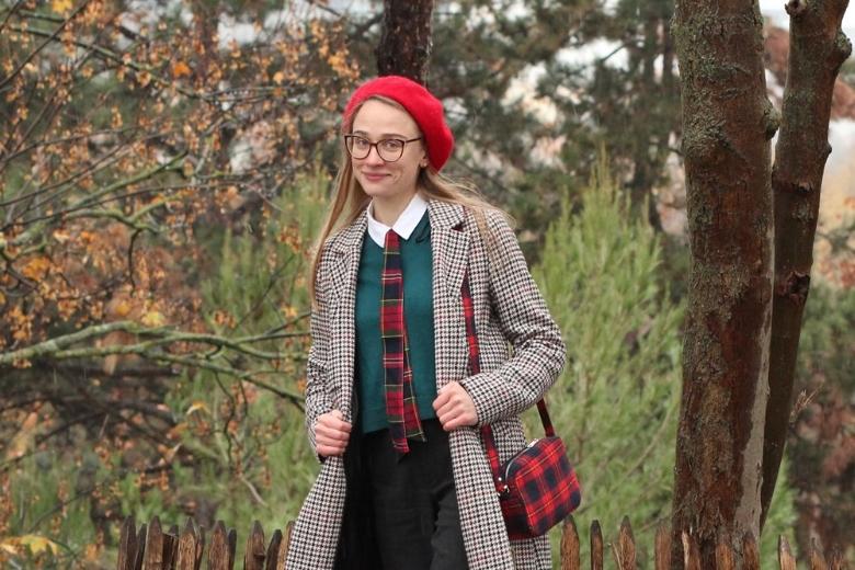 Rubans cravate tartan beret