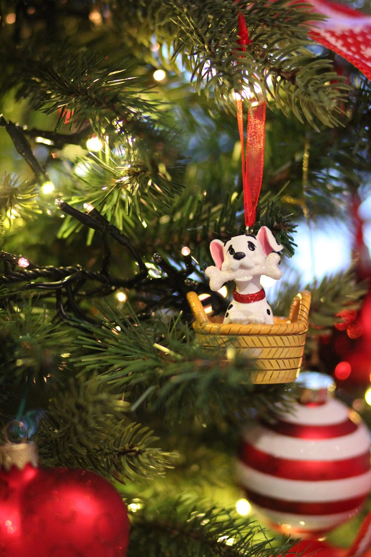 Decoration Sapin Noel Disney rouge noeud