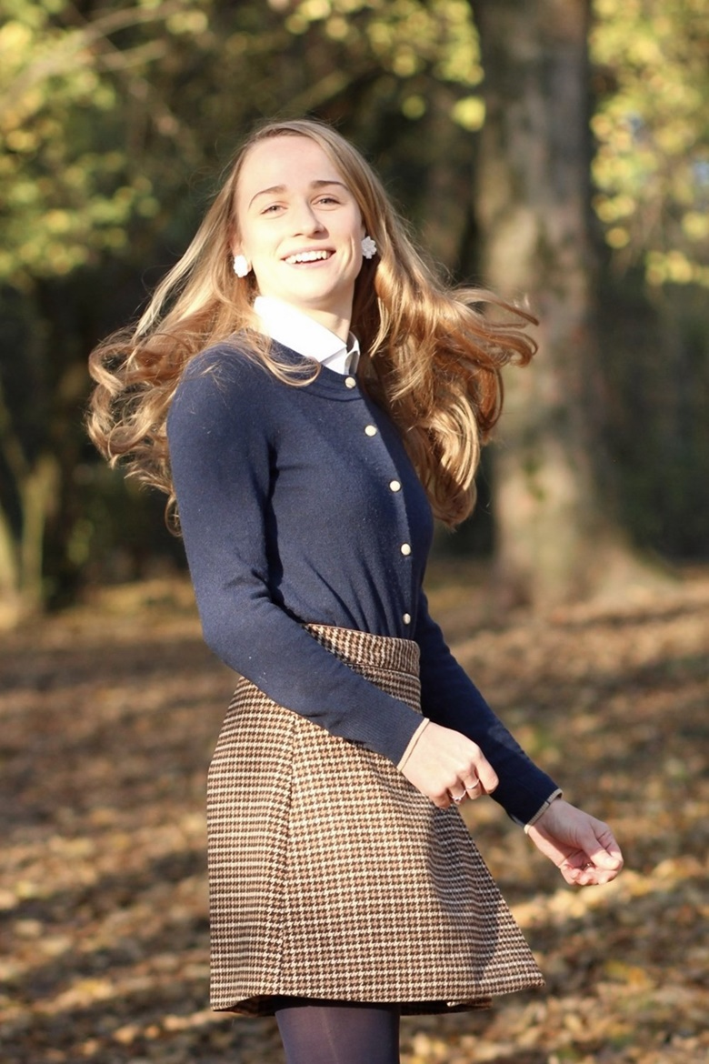 Blog mode outfit jupe automne laine