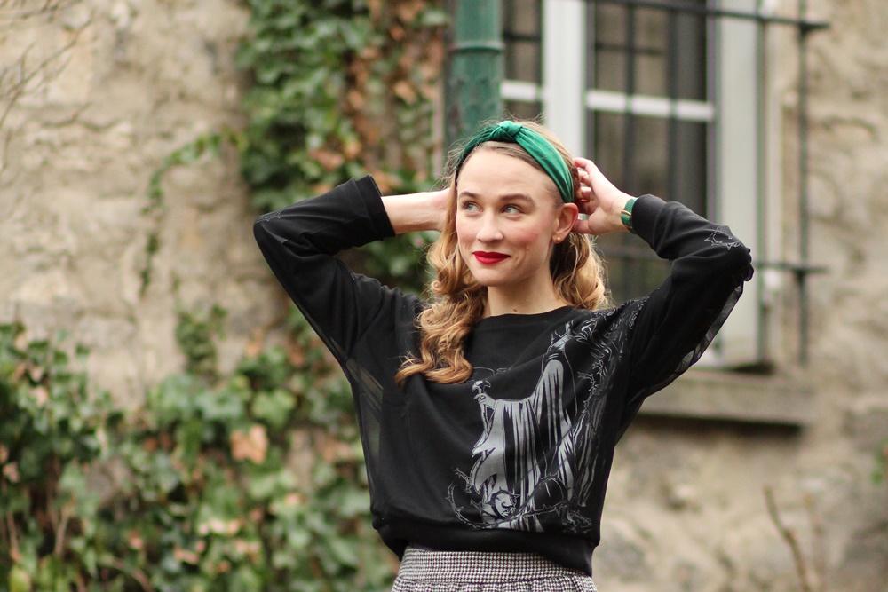 Blog Mode sweat pull Malefique Maleficent Disney Velours