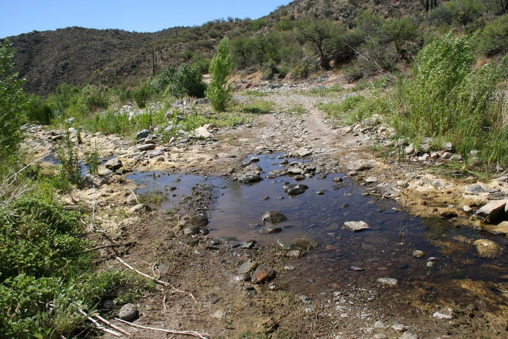 The side trail crosses the Black Canyon River, which could be wet depending on the time of year.