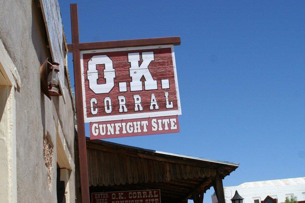 The O.K. Corral in Tombstone, Arizona