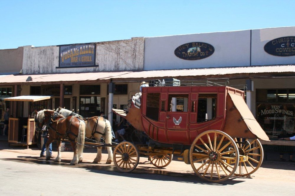 A stagecoach in Tombstone
