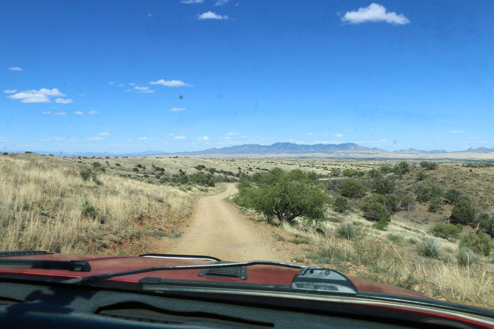 Rolling grassland on Forest Roads as we approach Kentucky Camp.