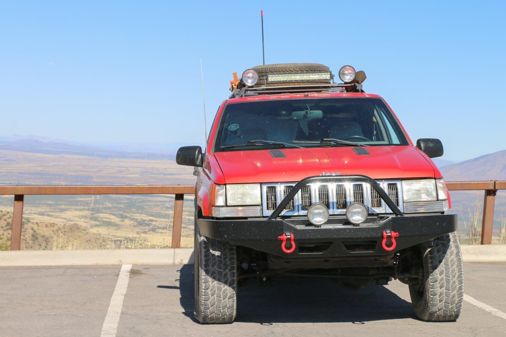 Making a quick stop to check out the impressive view from Montezuma Pass in Coronado NM.