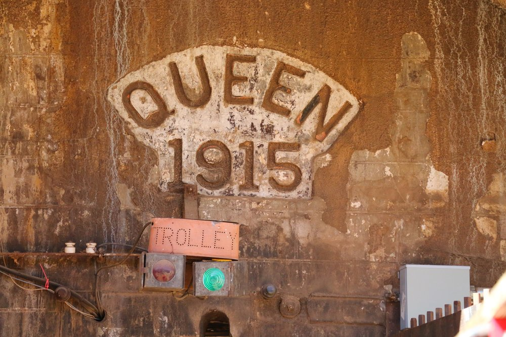 The entrance to the massive Copper Queen Mine in Bisbee.
