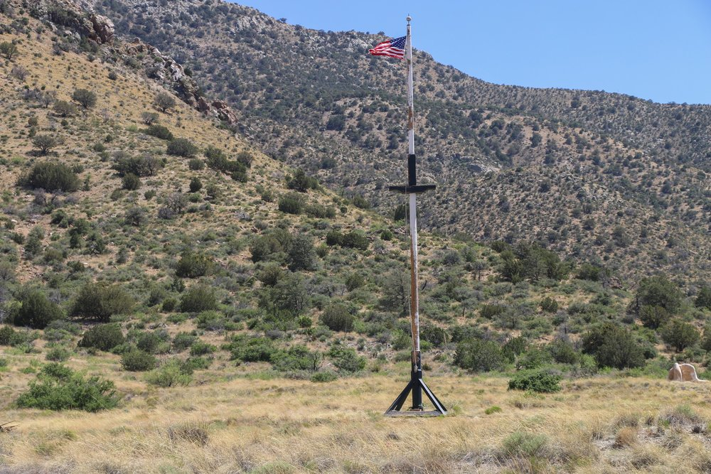 The original flag pole remains at Fort Bowie.
