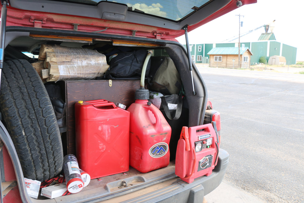 Fredonia would be our last resupply point until Nevada, so we needed to top off both gas cans and coolers.