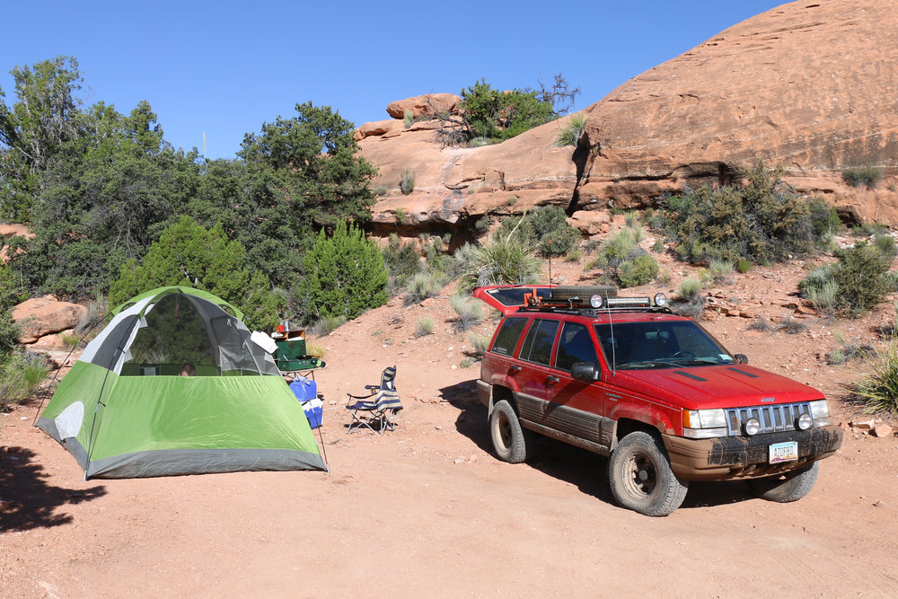 Camping spot at Toroweap. Most sites were filled. (Permit/Fee Required ahead of time)