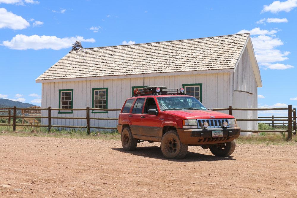 Mt. Trumbull Schoolhouse deep in the Arizona Strip.