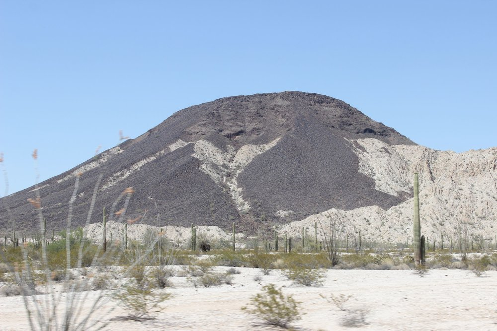 Tordillo Mountain as seen from just south of El Camino.