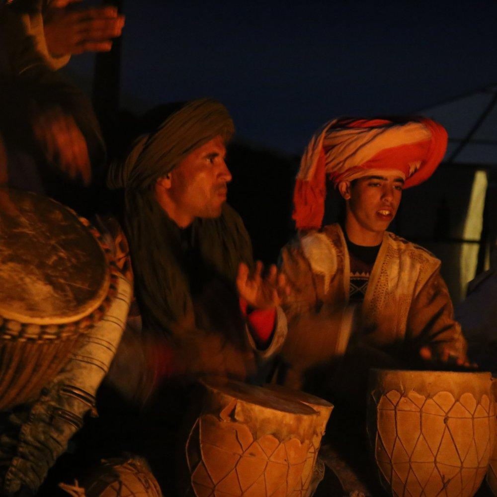 Berber drummers Sahara Desert Morocco