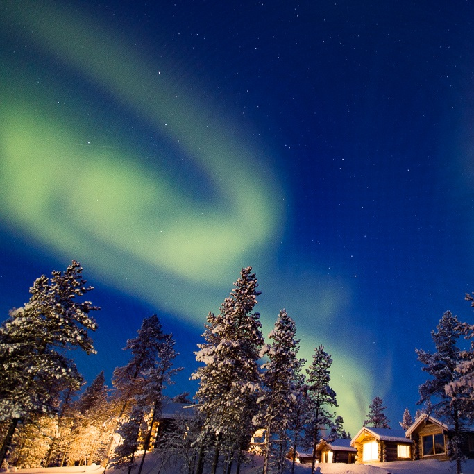 northern lights in Lapland Finland