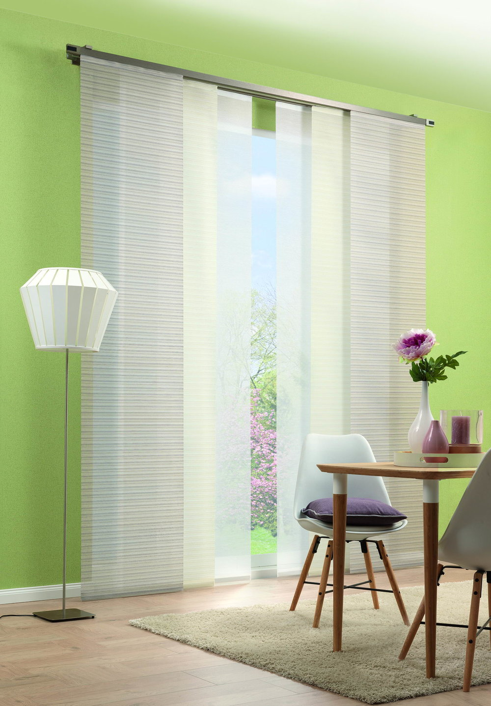 Sliding panels Trevira CS - Colorful. Individually. Combinable.